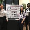 Students with research poster