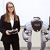 Stacy Ashlyn with robot