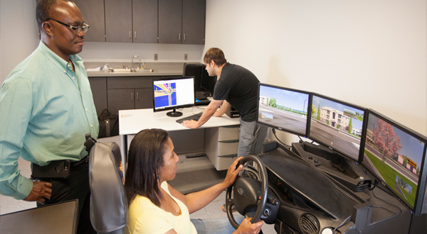 Driving simulation lab within ASAP
